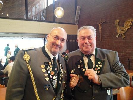 Ehrung Verdienter Reserve-Kameraden Beim Titularfest In Ratingen (Januar 2013)