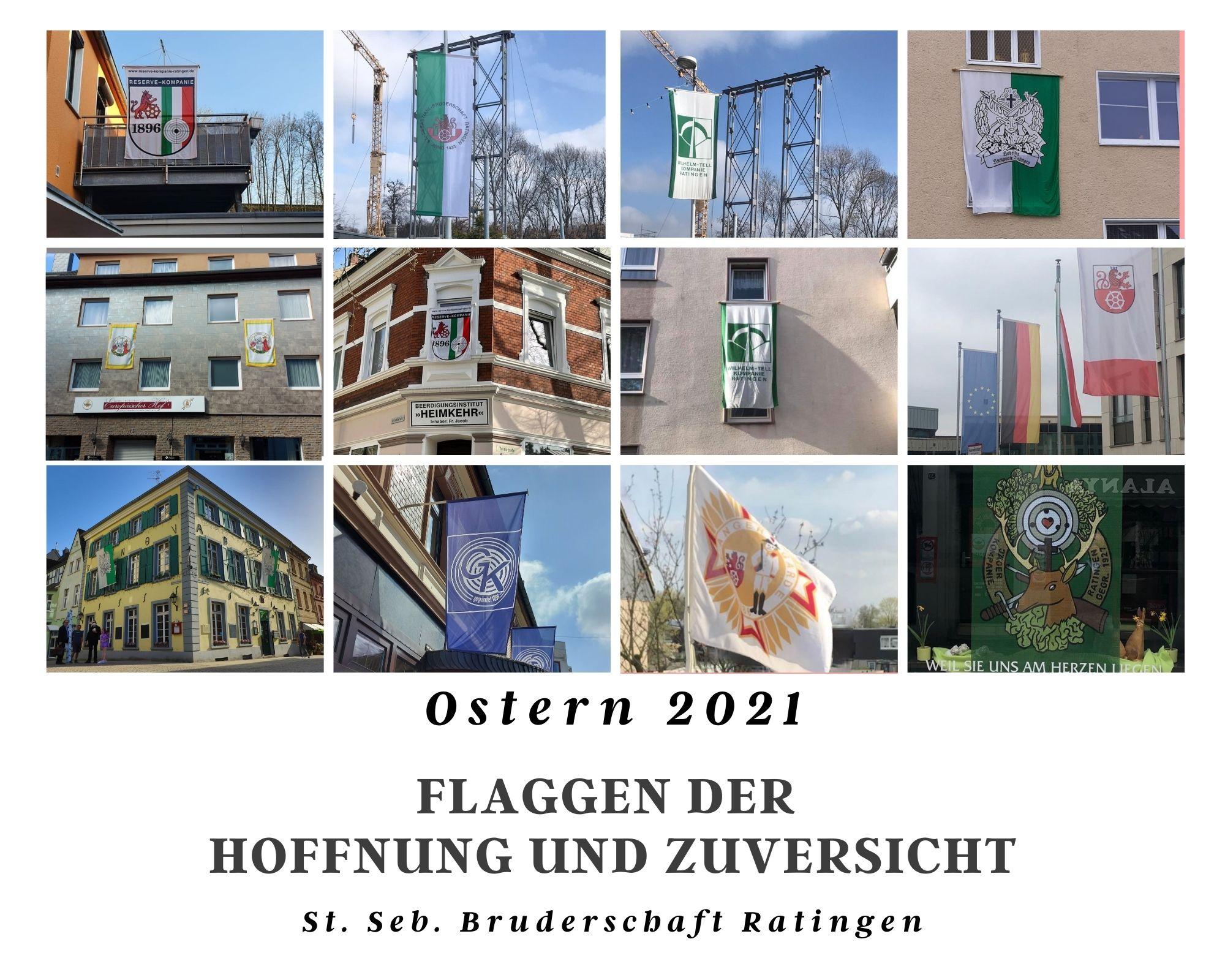 Bruderschaft Collage - Flaggen der Hoffnung und Zuversicht