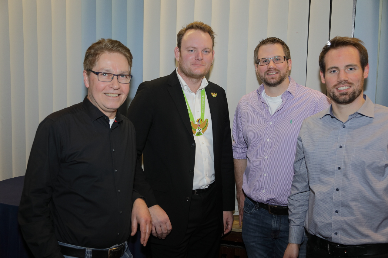Die 2. Garnitur Der Reserve: Klaus Fink, Stephan Raithel, Arnd Machenheimer Und Sebastian Roes, Nicht Auf Dem Bild: Andreas Theisen.